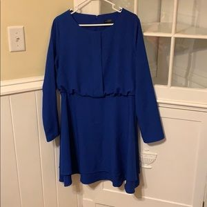 Striking Blue dress from The Limited!
